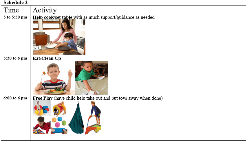 after school visual schedule for autism and adhd free