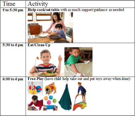 sample visual schedule for autism and adhd